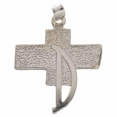 Colgante con cruz de los diáconos en plata 800 s1