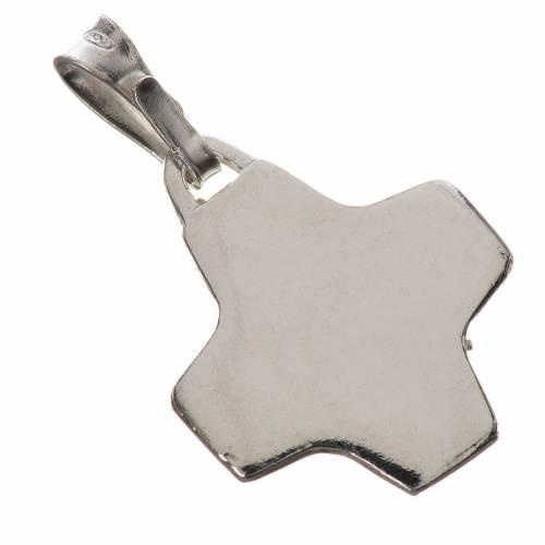 Colgante con cruz en plata 800 2