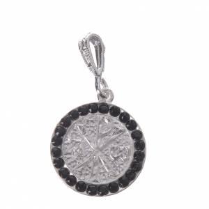 Colgantes, cruces y broches: Colgante plata 800 y Swarovski negro Pax