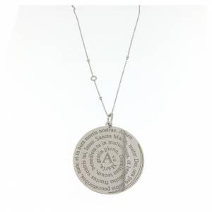 Pendenti, croci, spille, catenelle: Collana Amen Argento 925 Coelis Ave Maria