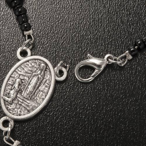 Collana rosario ematite Lourdes indossabile s5