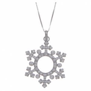 Colgantes, cruces y broches: Collar AMEN Corona Circones Plata 925