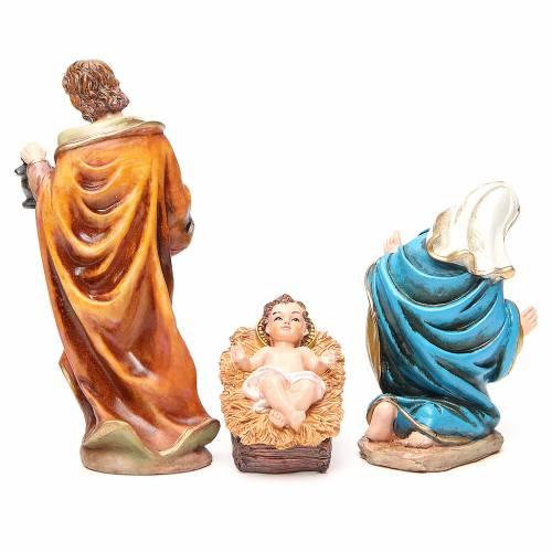 Complete nativity set in multicoloured resin, 11 figurines 20cm s3