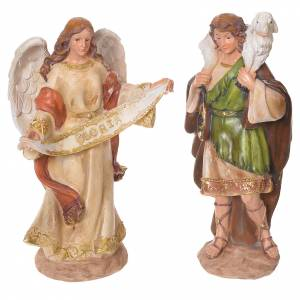 Complete nativity set in multicoloured resin, 11 figurines 31cm s4