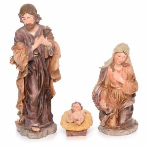 Resin and Fabric nativity scene sets: Complete nativity set in resin measuring 50cm 11 figurines