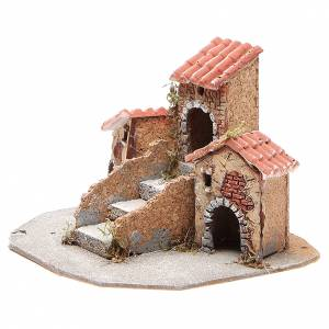 Composition of houses for Neapolitan Nativity scene, 17x24x20cm s2