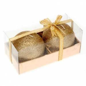 Candele natalizie: Coppia candele natale glitter