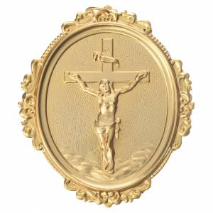 Confraternity Medal in brass, cross with Christ in brass s1