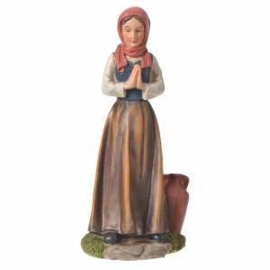 Statue per presepi: Contadina mani giunte presepe 30 cm resina