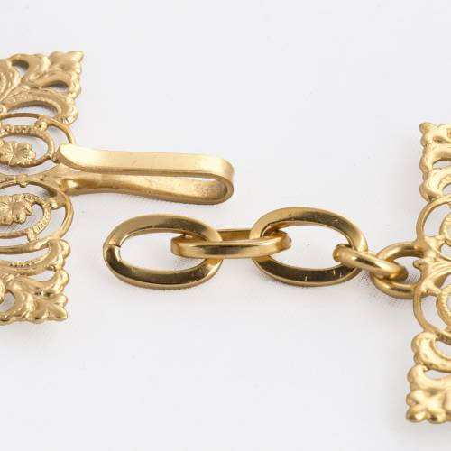 Cope clasp, gold-plated brass, square s3