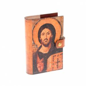 Custodie lit. ore 4 vol.: Copertina 4 vol. vera pelle Pantocratore e Madonna