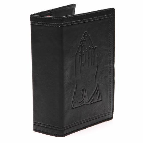 Copertina Bibbia Gerusalemme pelle nera Mani Giunte s4