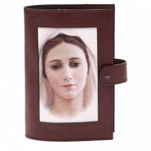 Custodie lit. ore 4 vol.: Cop. Lit. 4 vol. pelle testa di moro Madonna immagine