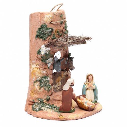 Coppo con statue per presepe terracotta Deruta 23 cm s3