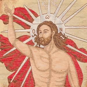 Coprileggio Cristo Risorto con angeli s4