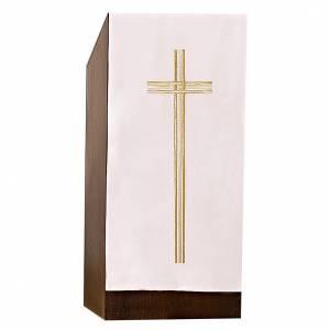 Coprileggio croce ricamo dorato s1