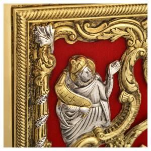 Coprilezionario ottone dorato Gesù Crocifisso s8