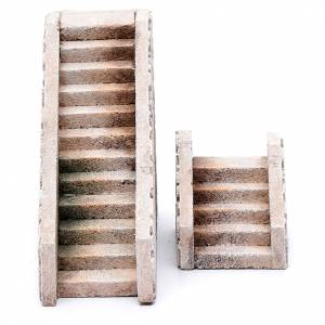 Home accessories miniatures: Cork terracotta stairs 2 pieces