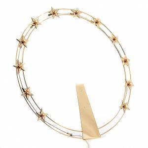 Aros y Coronas: Corona luminosa latón dorado 40 cm diámetro
