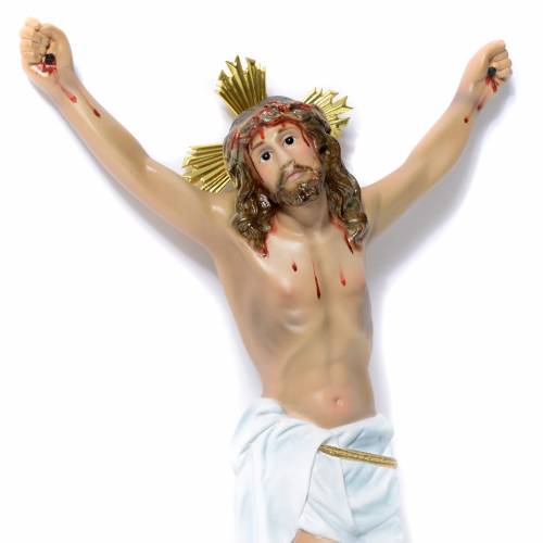 Corpo di Cristo Agonia pasta di legno 30 cm dec. elegante s2