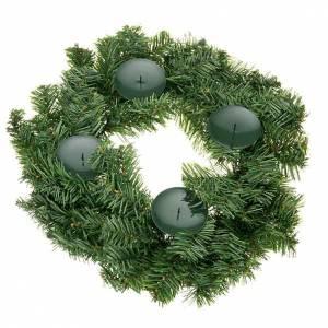 Décorations Noël pour la maison: couronne de l'avent, non décorée