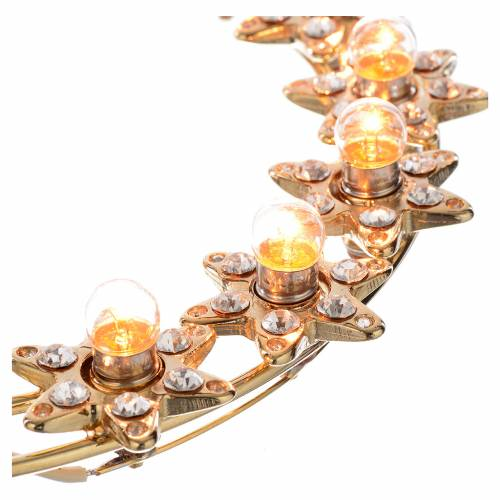 Couronne lumineuse ampoules et strass s3