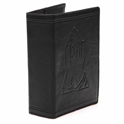 Couverture Bible Jérusalem cuir noir Mains Jointes s4