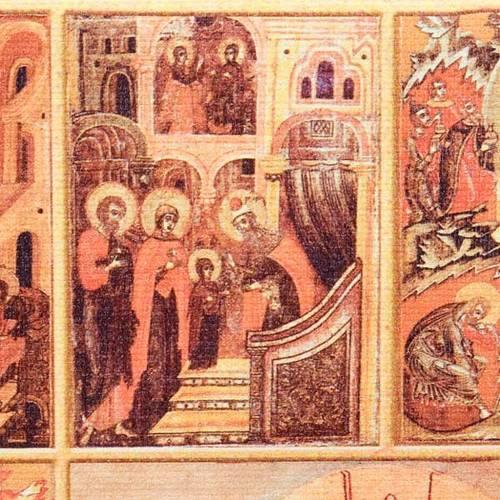 Couverture lectionnaire cuir toile Jésus s2