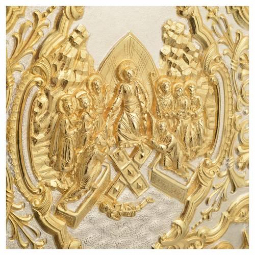 Couverture lectionnaire laiton doré scène Crucifixion s7