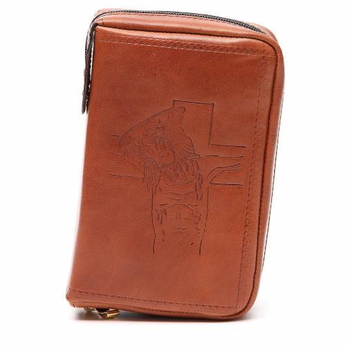 Couverture Lit. Heures 4 vol. cuir brun Christ s1