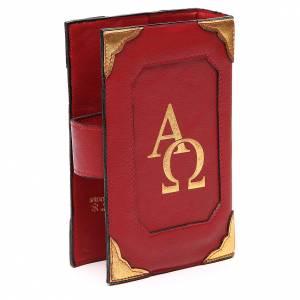 Couverture Lit. Heures 4 vol. cuir rouge Alpha Oméga aimant s3