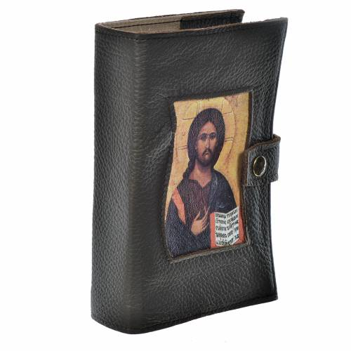 Couverture liturgie 4 vol. Pantocrator brun foncé s2