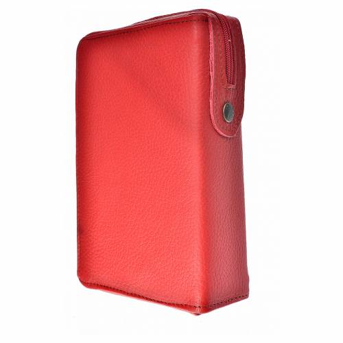Cover for the Divine Office burgundy leather Holy Family of Kiko s2