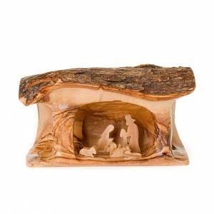 Crèche tronc bois d'olivier s3