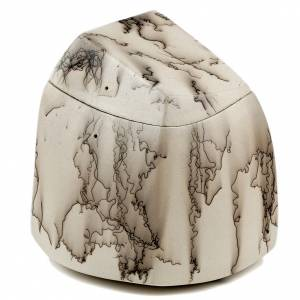 Cremation urn, horsehair square 3/10 s1