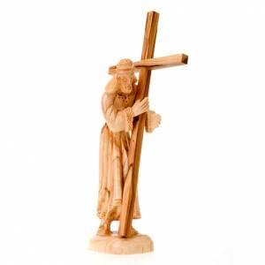 Imágenes de madera natural: Cristo con la Cruz