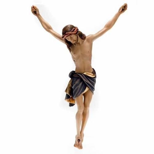 Cristo de madera pintado Siena Val Gardena s1