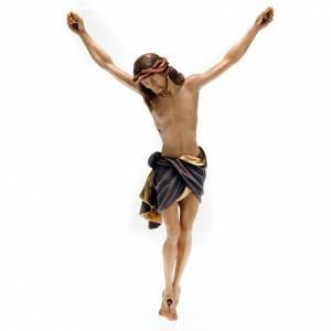 Cristo in legno dipinto Siena Val Gardena s1