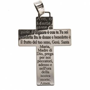 Pendenti, croci, spille, catenelle: Croce Argento 925 Ave Maria