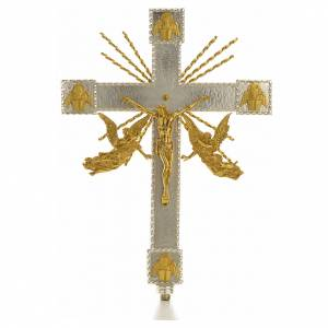 Croci astili e basi portacroce: Croce astile angeli e raggi