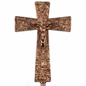 Croci astili e basi portacroce: Croce astile in bronzo immagini Via Crucis