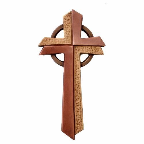 Croce Betlehem in legno d'acero diverse gradazioni marrone s1