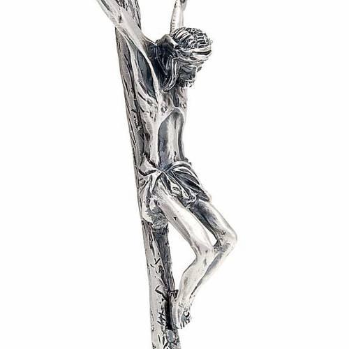 Croce pastorale Giovanni Paolo II 38 cm argento s3