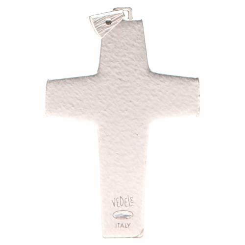 Croce pettorale Buon pastore metallo 10x7 cm s2