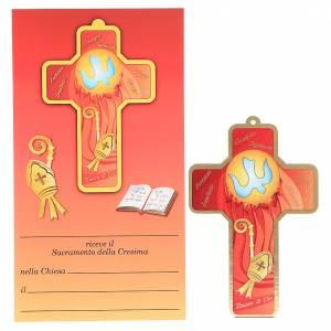 Bomboniere e ricordini: Croce pvc Cresima con cartoncino ricordo