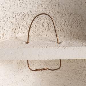Crocefisso Stele argilla bianca 29,5 cm s5