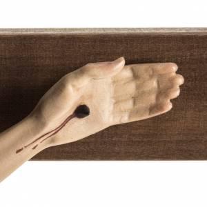 Crocefisso Val Gardena legno dipinto San Damiano s5