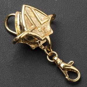 Crochet pour croix épiscopale argent doré s3