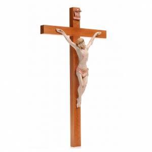 Crocifisso Fontanini 38x22 croce legno corpo pvc tipo porcellana s3