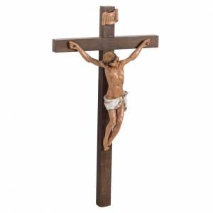 Crocifisso Fontanini croce legno 38x22 corpo pvc s3